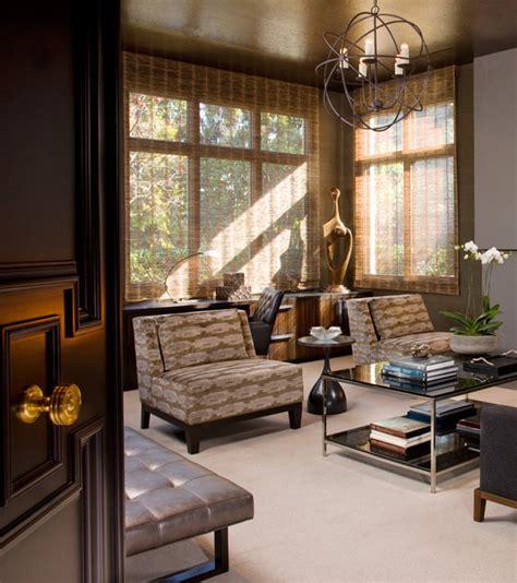 hollywood glamour meets modern modern living room