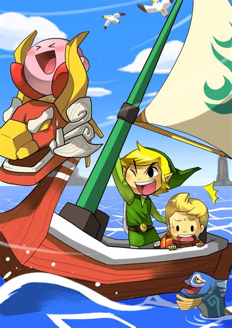 Zelda The Wind Waker Fanart With Lucas Too Come On