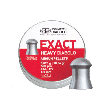 jsb exact heavy 177 pellets jsb exact heavy diabolo 177 4 52 air rifle pellets