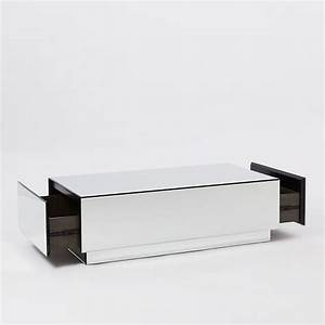 geo mirror storage coffee table west elm With west elm mirrored coffee table