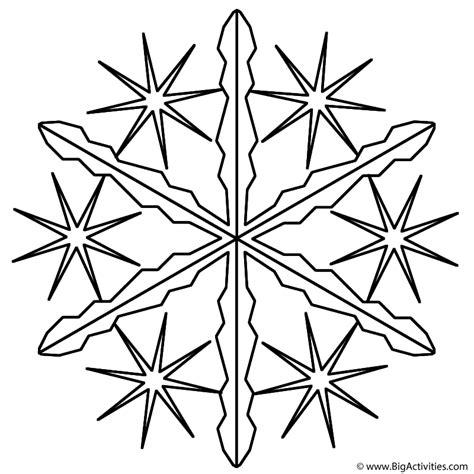 snowflake  coloring page christmas