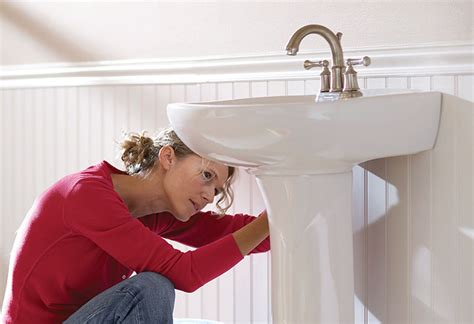 installing a pedestal bathroom sink how to install a pedestal sink at the home depot