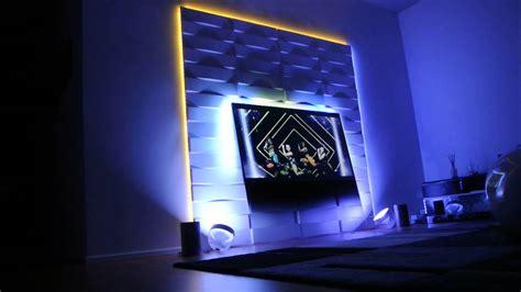 ambilight hue on tv wall