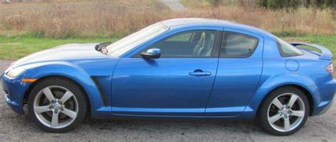 buy used nice 2005 mazda rx 8 coupe dark blue with doors all electric low mile in