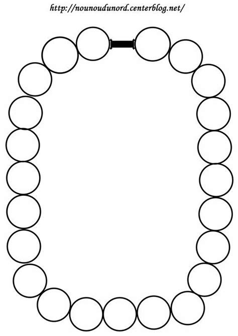 colliers de perles  colorier ou gommetter