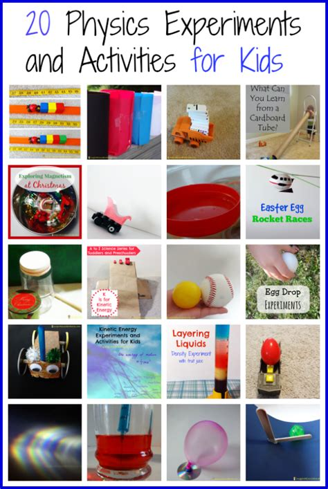 20 preschool physics experiments and activities 372 | Physics Experiments
