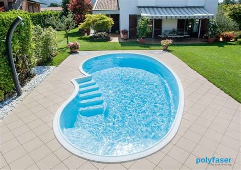 pool aus kunststoff fertigpool in freiform barbados sunday pools onlineshop