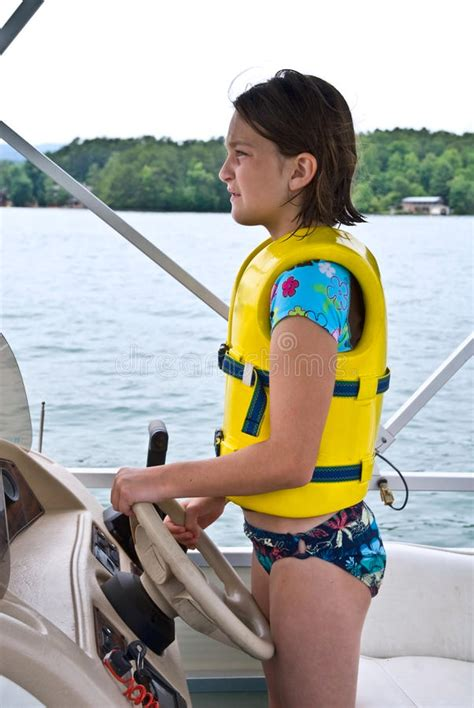 Girls On Boats by Young Girl Driving Boat Royalty Free Stock Image Image