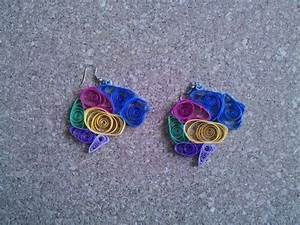 Quilled Brain Diagram Earrings  U00b7 A Set Of Paper Earrings  U00b7 Jewelry Making  Quilling  And
