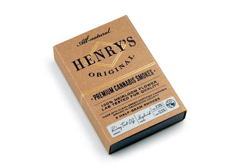 henrys original cannabis packaging  pavement