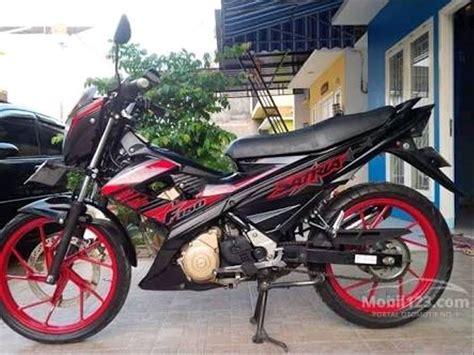 Satria 2014 Merah Hitam Standart by Jual Stiker Striping Satria F 2014 Merah Hitam Di Lapak