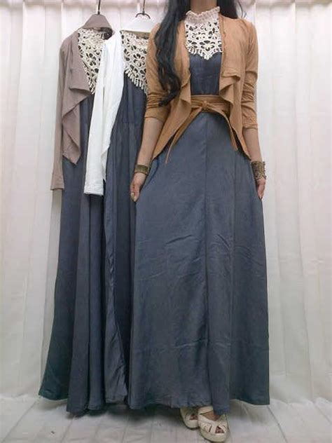 tunik murah busana wanita dress wanita longdress tunik maxi denim kode 1369 butik fashion wanita