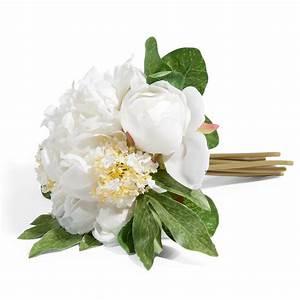 Bouquet de pivoines blanches h 25 cm lucie maisons du monde for Chambre bébé design avec livraison de bouquet de fleurs à domicile