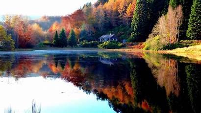 Wallpapers Landscape 4k Lake Backgrounds Autumn Desktop