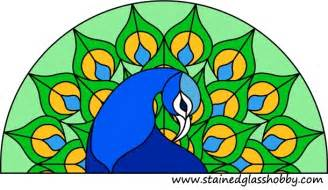 Peacock Stained Glass Patterns