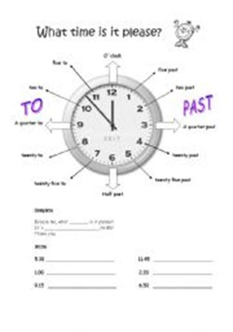 time esl worksheet  sophia