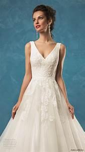 amelia sposa 2017 wedding dresses wedding inspirasi With v neck a line wedding dress