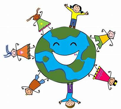 Earth Clipart Cartoon Kid Drawing Cliparts Animated
