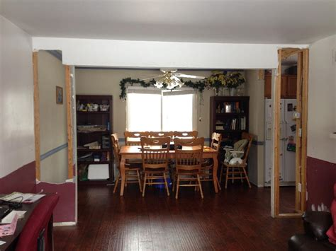 open plan kitchen living room design trim can i pvc pipe into a decent indoor column
