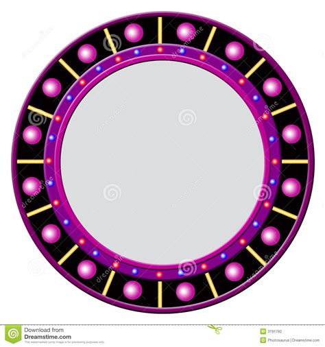 Round Frame With Glowing Balls Stock Illustration  Image 3191792