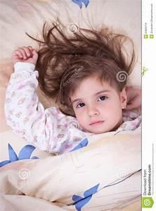 Sonno Felice Dolce Della Bambina Fotografia Stock