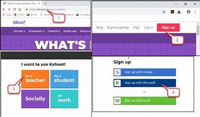 Kahoot Create Account Instruction Basic Features Steps