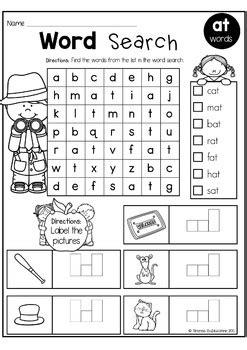 cvc words word search  rhonda baldacchino teachers