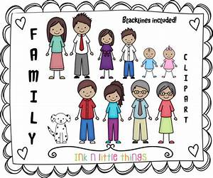 Kids Clipart My Family Clip Art Set 4 INSTANT DOWNLOAD