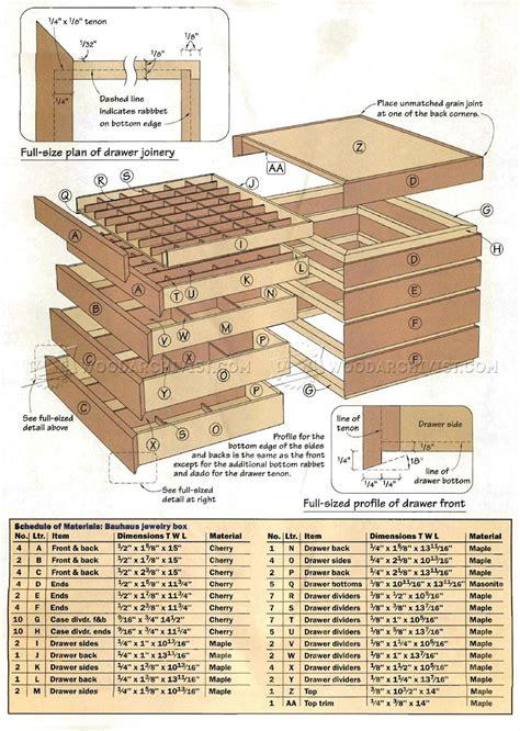 Bauhaus Jewelry Box Plans • Woodarchivist
