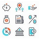 Banking Icon Icons Bank Money Vector Fintech
