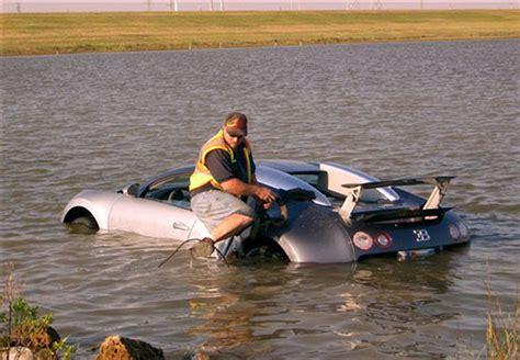 1.6m Bugatti Veyron Crashing Into A Lake
