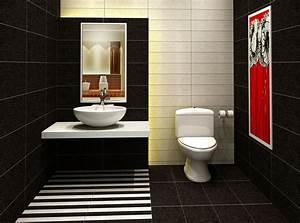 Black tile for washroom