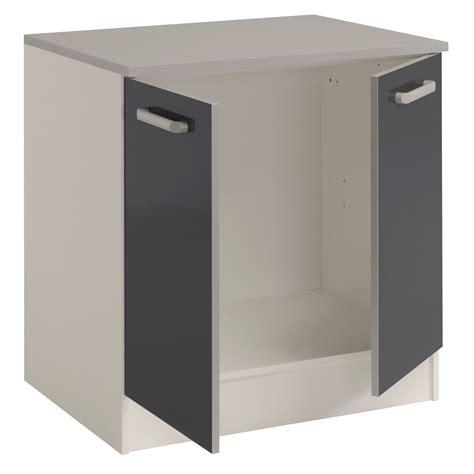 meuble bas cuisine 80 cm meuble bas de cuisine contemporain 80 cm 2 portes blanc
