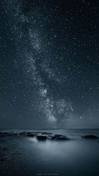 Stars Sky Wallpapers Iphone Galaxy Backgrounds Nature