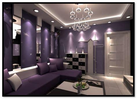kombinasi warna cat ungu ruang tamu lebih indah