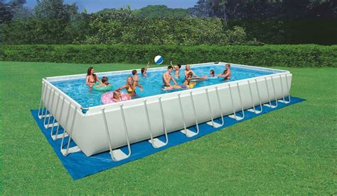 pool aufblasbar rechteckig ground swimming pool rectangular outdoor idfdesign