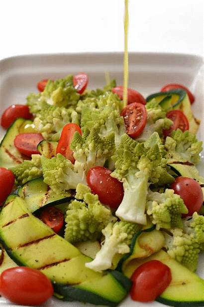 Salad Zucchini Romanesco Healthy Grilled Calories Ribbons