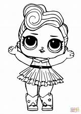 Coloring Lol Pages Doll Luxe Printable Drawing Paper Games sketch template