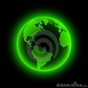 Neon Earth Stock Image