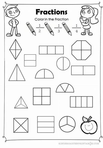 Fractions Worksheets Coloring Math Worksheet Basic Identify
