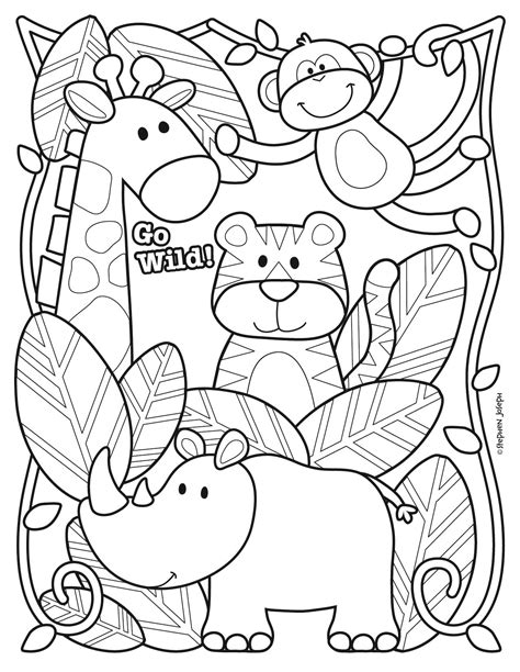 Coloring Zoo Page by Zoo Coloring Page Printable Free By Stephen Joseph