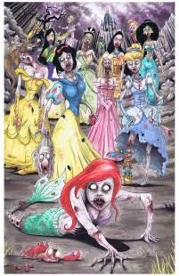 Disney Princess as Zombies