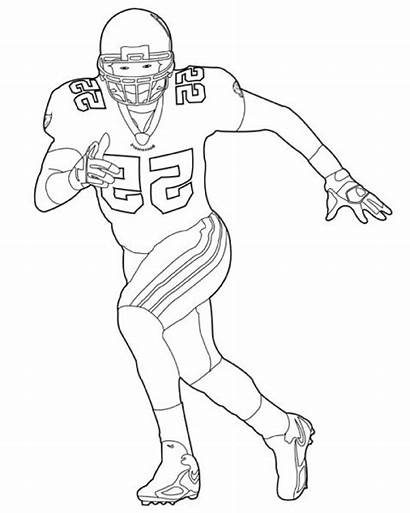 Football Coloring Pages Players Player Cowboys Drawing