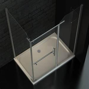 Duschkabine Ohne Wanne : zelsius duschkabine dusche mit lotuseffekt 120x80 cm 8mm esg sicherheitsglas ebay ~ Markanthonyermac.com Haus und Dekorationen