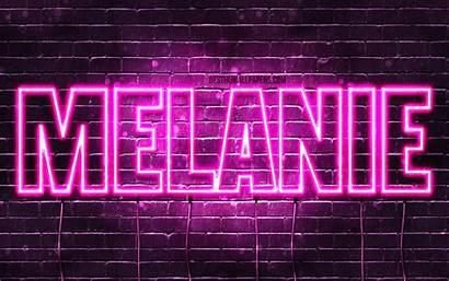 Melanie Wallpapers Names 4k Neon Female Purple