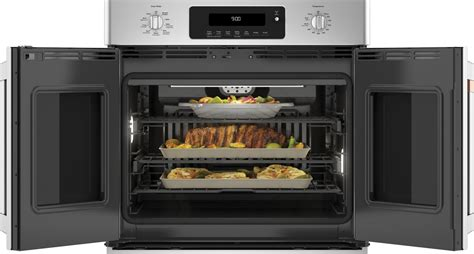 ctsfpms cafe   smart single french door electric wall oven