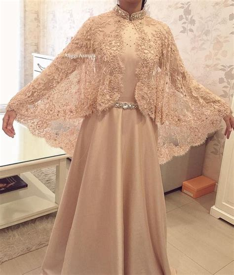 model baju pesta modern brokat muslim kebaya terpopuler