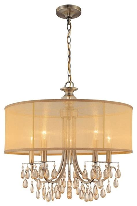 antique brass dining and foyer chandelier transitional