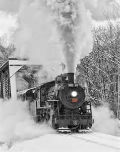 Steam Train Winter Snow
