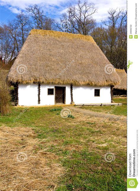 romanian peasant house stock photo image  architecture
